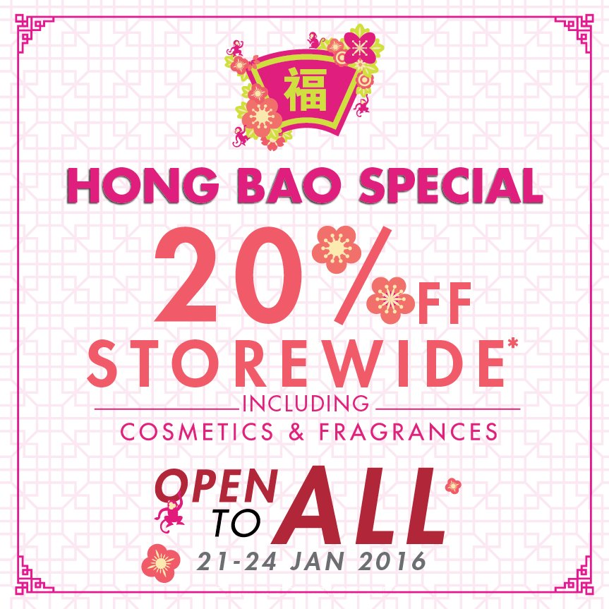 Chinese New Year is fast approaching! Have you shopped for anything new yet? Check our FB page for more details.