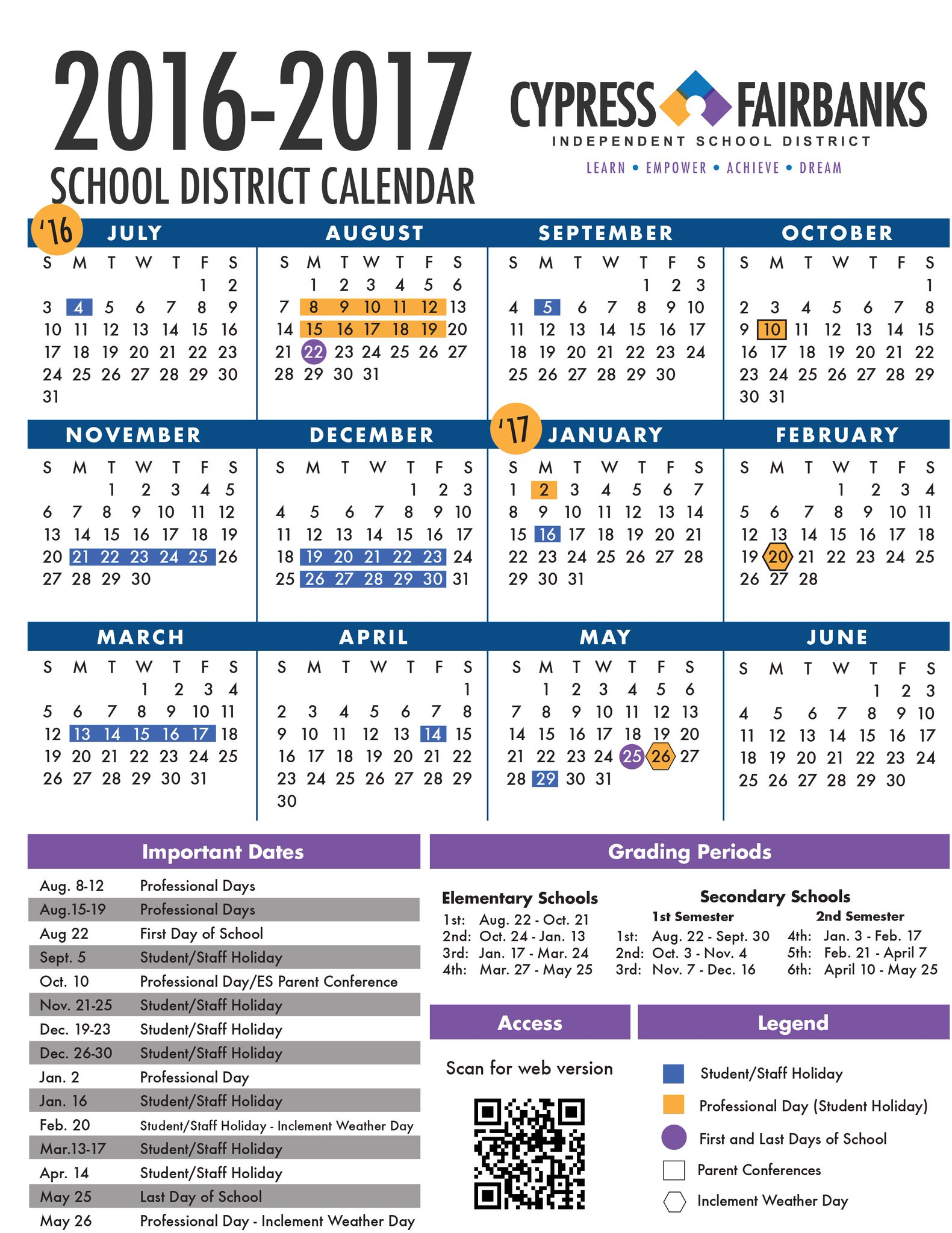 Cfisd Calendar 2022 2023.Cypress Fairbanks Isd On Twitter Cfisdboard Approves 2016 2017 Instructional Calendar Https T Co Itld1fuxmf Https T Co Qemzfnhjcm