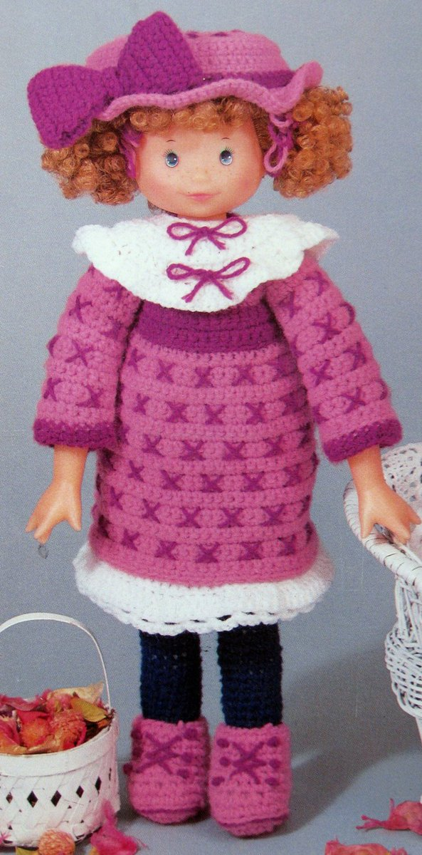 Need A Needle On Twitter Holly Hobbie Crochet Doll And Outfits