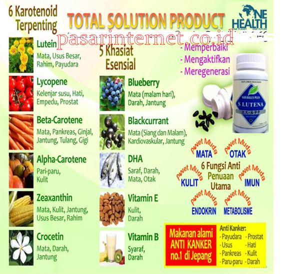 Kandungan s lutena vitamin, suplement /obat herbal mata