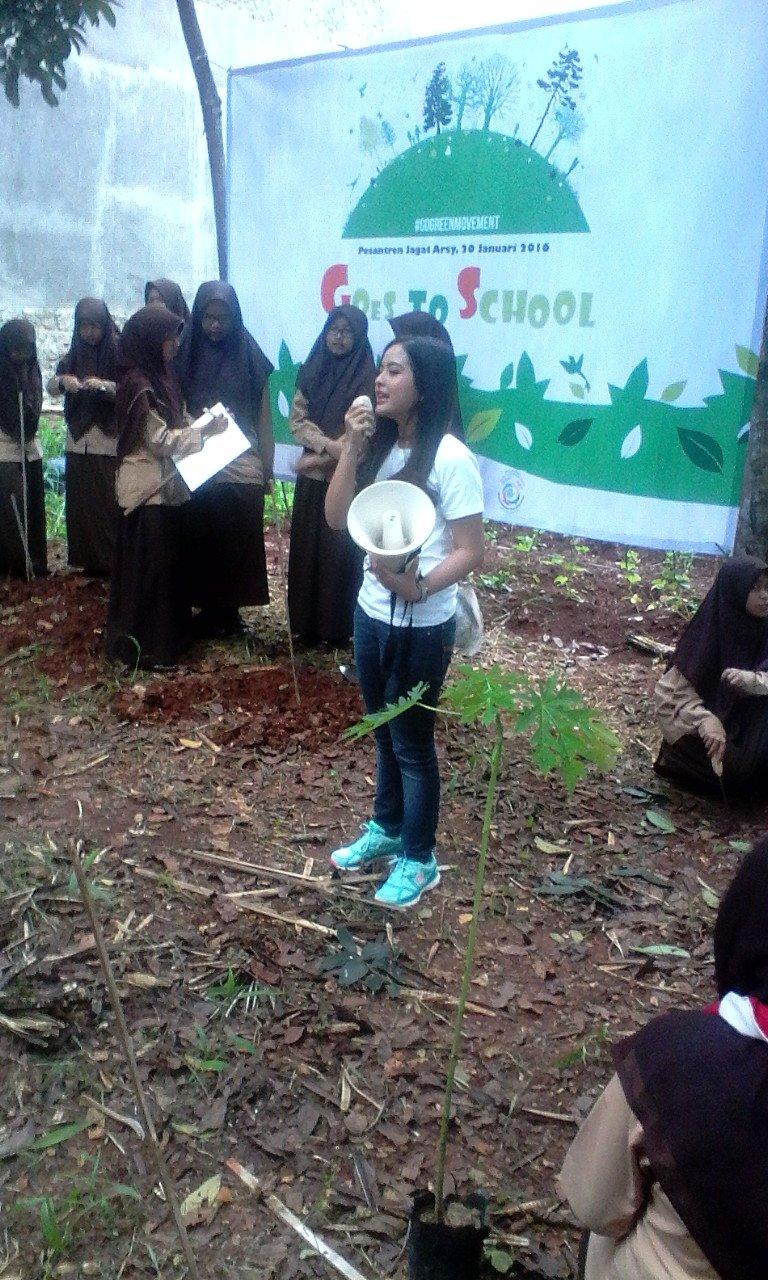 Tasya Kamila mengampanyekan Green Movement