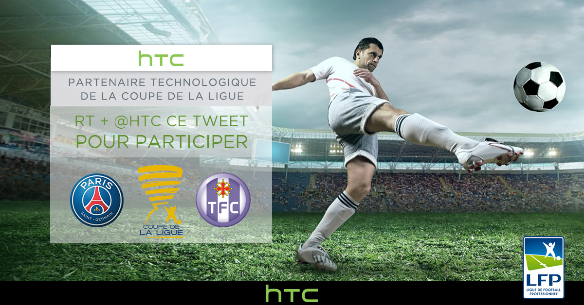 Vous voulez voir une demi-finale de la #CDL ? Follow @HTC_Fr et RT pour gagner 2 places pour #PSGTFC. #CDL https://t.co/ASIAAIAQOS