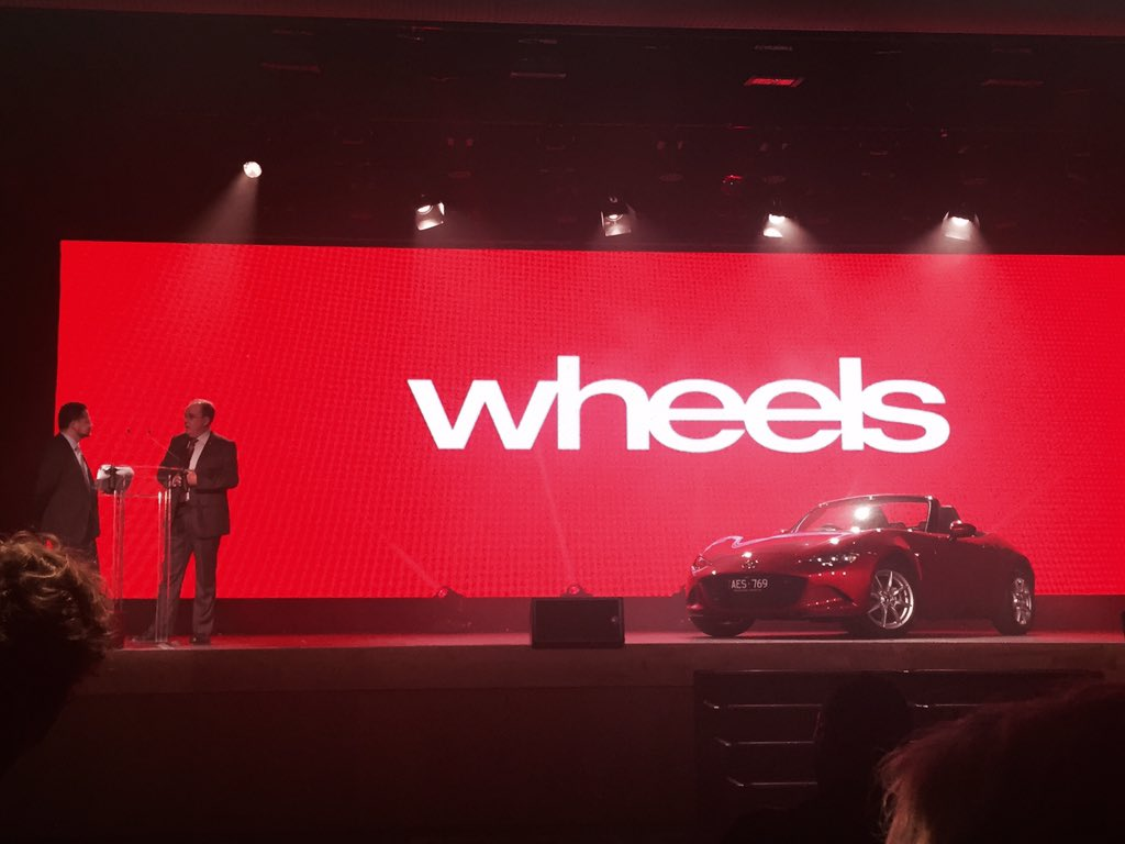 We are thrilled to announce the #Mazda #MX5 has taken out the 2016 @WheelsAustralia Car of the Year! #WheelsCOTY https://t.co/EsHwkPM7fU