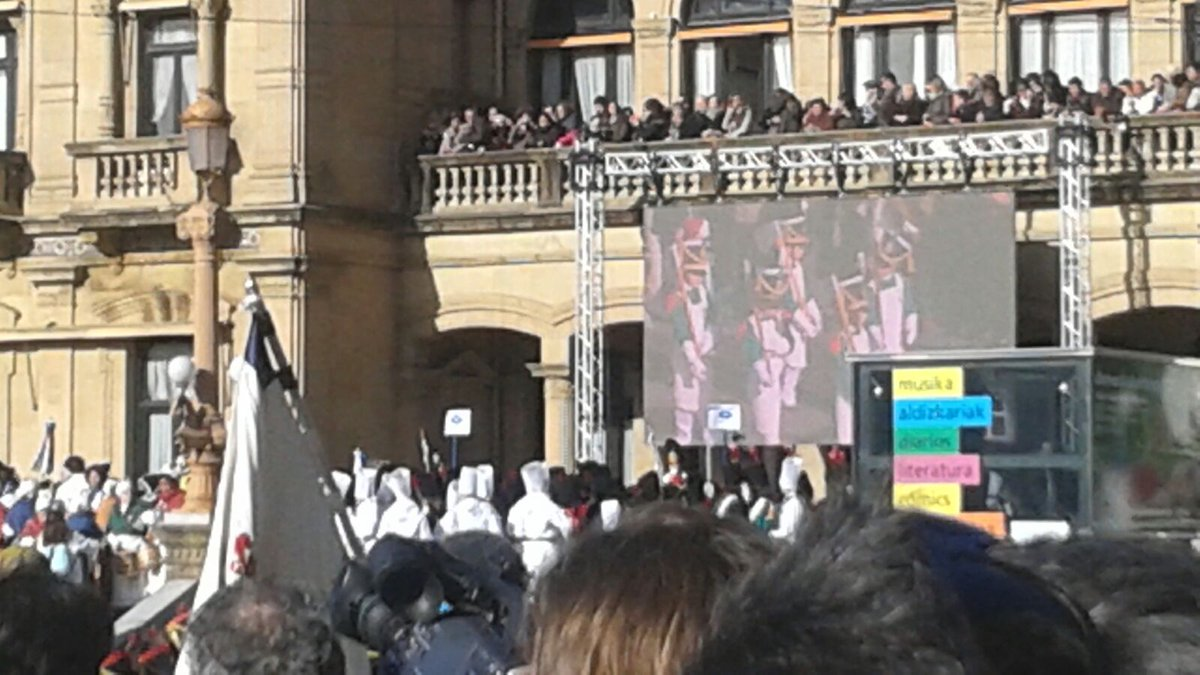 A very special #tamborrada at #Donostia2016. Children from #Wroclaw & #Donostia play the march of #sansebastian. https://t.co/og7E9vLk4S
