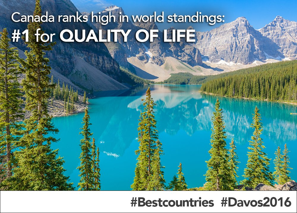 Canada ranks high as one of #Bestcountries in global evaluation revealed at #Davos2016 #WEF https://t.co/UmrCbc3w2z https://t.co/cXAWekjZzR