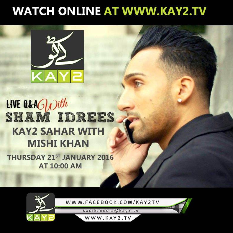 Interview of @ShamIdrees  Pakistani Canadian Singer, Nasheed Artist and Actor on @kay2tv Sahar Mishi Khan Ke Saath https://t.co/L0FhpLG3Uf