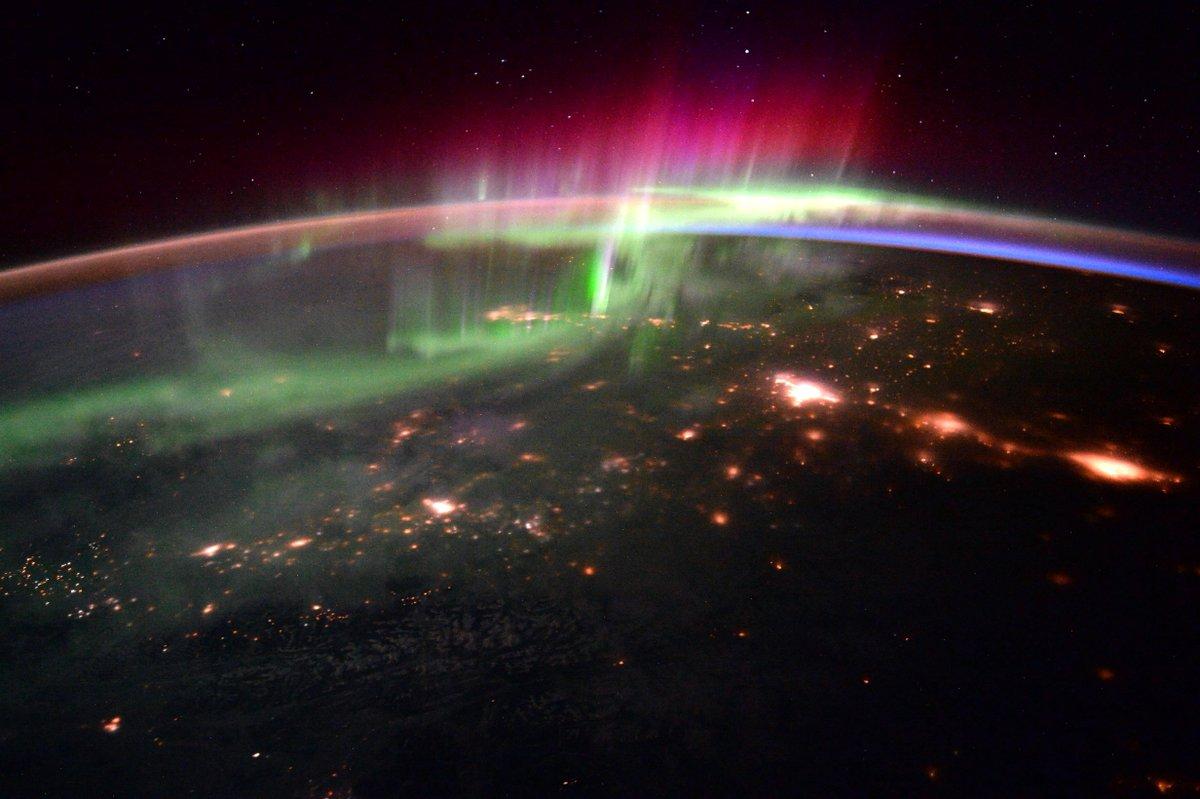 Tim Peake's space snaps capture the otherworldly essence of the Aurora Borealis
