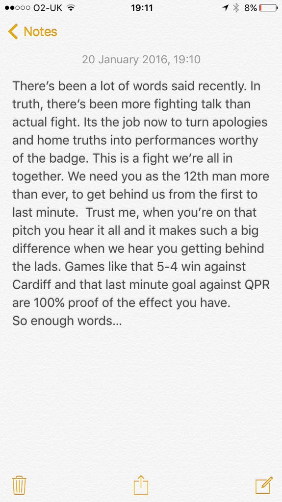 A message to all the #CAFC fans : https://t.co/4iASbnO4Qb