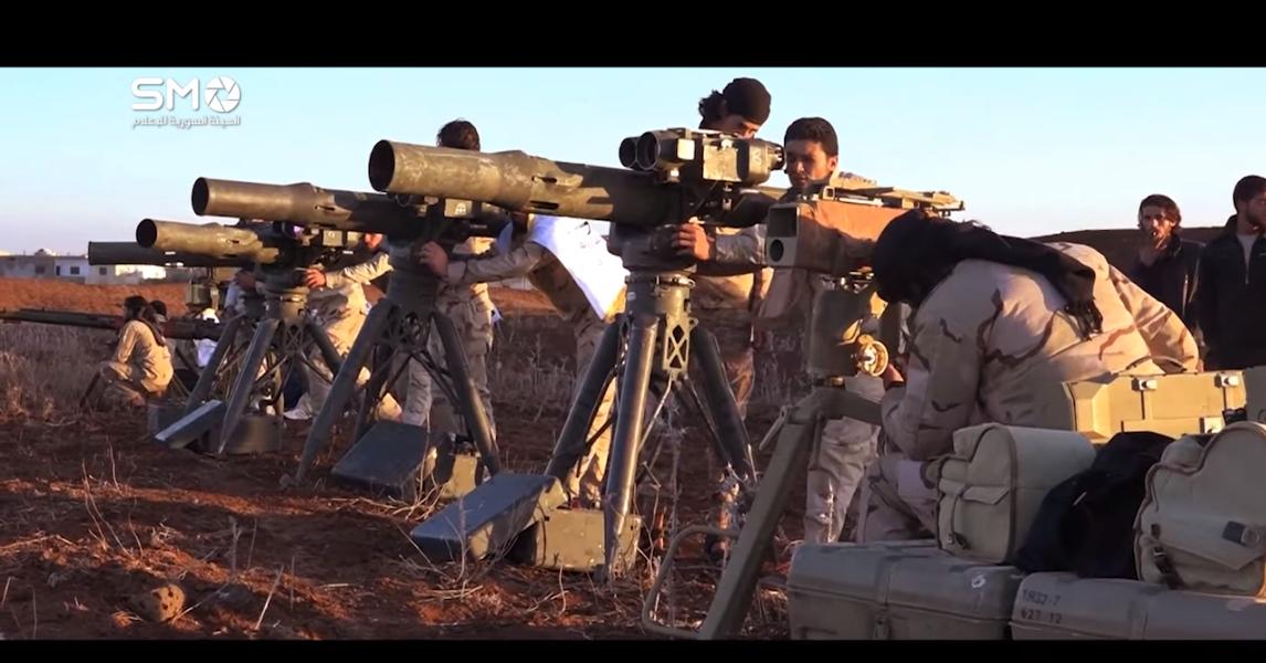 Динамика пусков ПТУР в Сирии