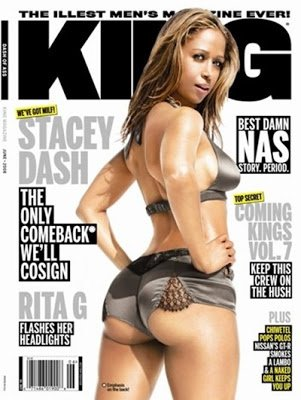 One more @REALStaceyDash. So no to Black History Month @naacpimageaward @BET, but yes to Black men's mag King? Hmmmm https://t.co/dokpzt3Pn9