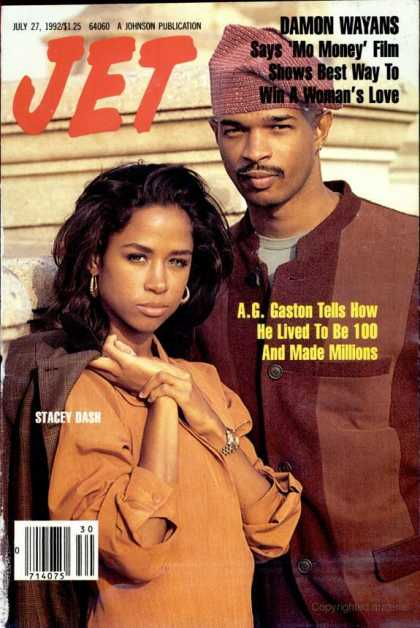 Wait. Is that @REALStaceyDash on the cover of @GetJETmag with Damon Wayans promoting Mo' Money? Wow. Black magazine. https://t.co/RTgSUAtFhj