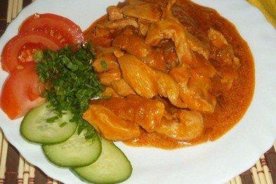 Гуляш из филе курицы с овощами рецепт с фото пошагово