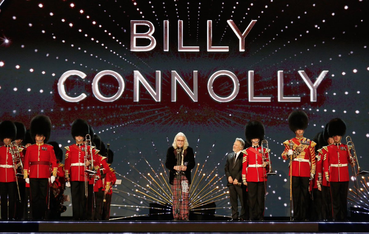 Billy Connolly discusses his Parkinson's Disease at TV awards