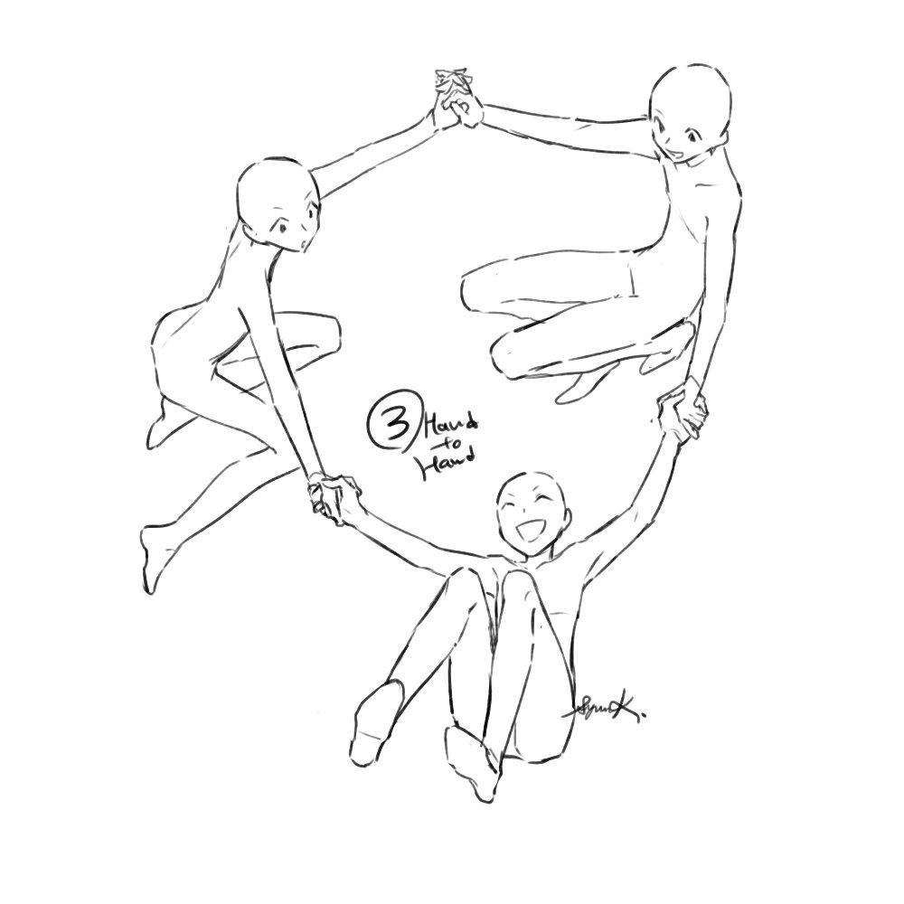 暮宙シュン原稿しろ On Twitter 環状構図練習 番外 ポーズや構図は