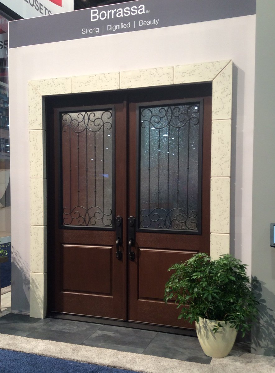 Therma-Tru Doors on Twitter \ Borrassa glass creates a grand entrance especially when paired w/two 8ft Classic-Craft doors #IBSVegas C6108 ... & Therma-Tru Doors on Twitter: \