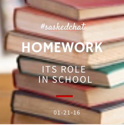 #saskedchat Thursday 8pm CST - Homework - Its role in school is our topic. Join us and share your insights! https://t.co/jmgVXWWKSI