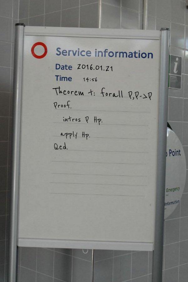 ロンドンの地下鉄でCoqの証明。 https://t.co/QYMXYVCvBB #Coq https://t.co/pjTq0E0imR