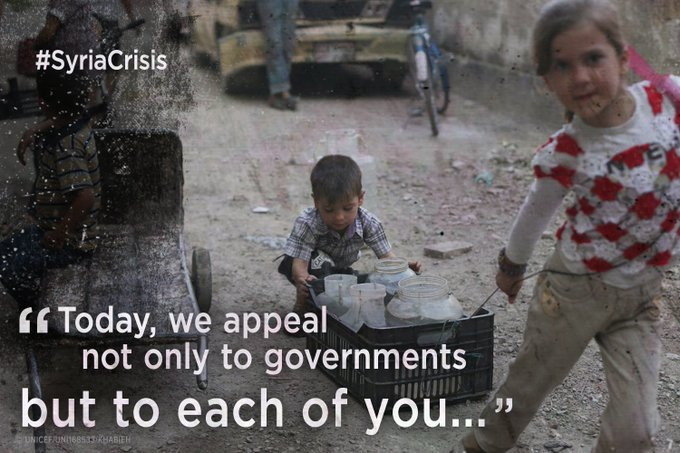 In the name of our shared humanity, we call for immediate action to end the #SyriaCrisis: https://t.co/756ww6GcJt