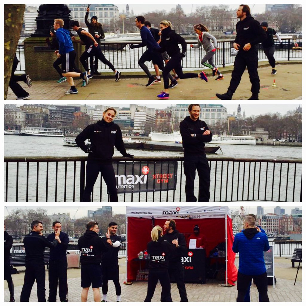 RT @Electric_MGT: Our client @KimberlyKWyatt had a great training session with @MaxiNutrition #streetgym #southbank #fitness #London https:…