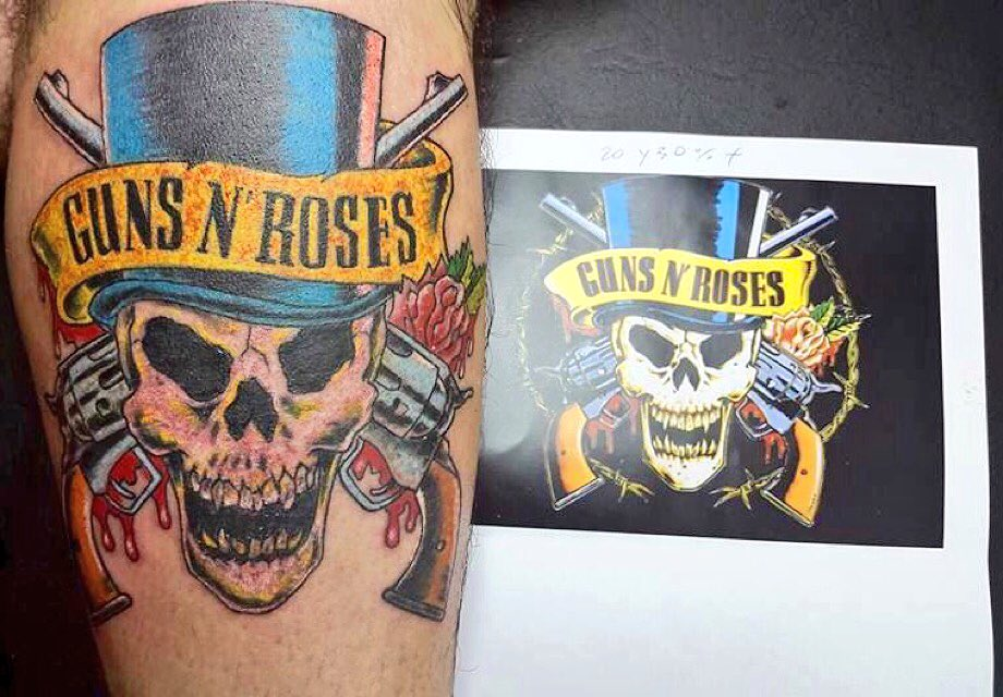 Guns n 39 roses on twitter post a photo of your for Guns n roses tattoos