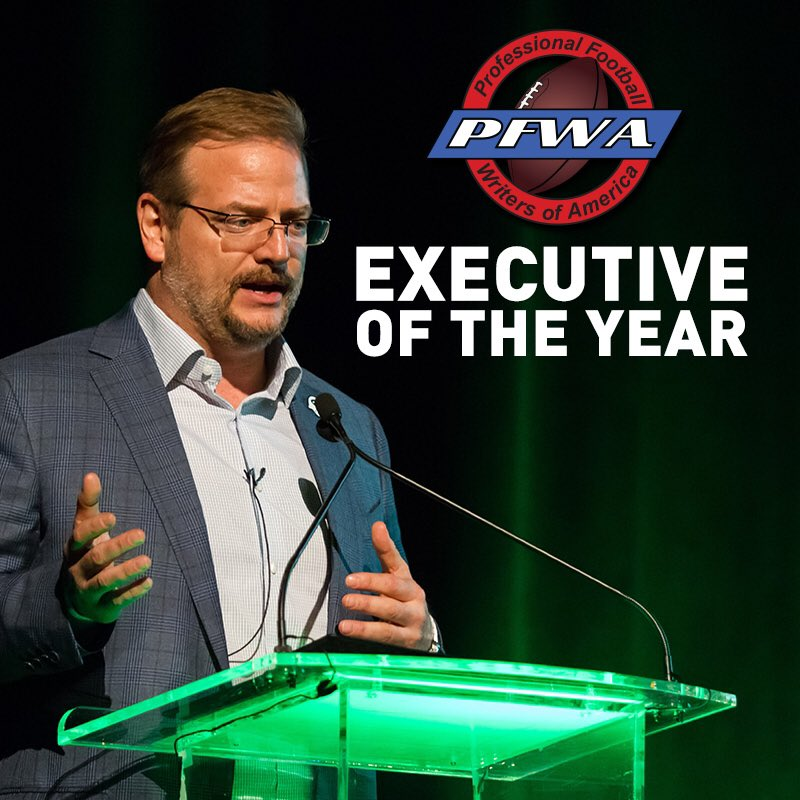 Image result for mike maccagnan executive of the year