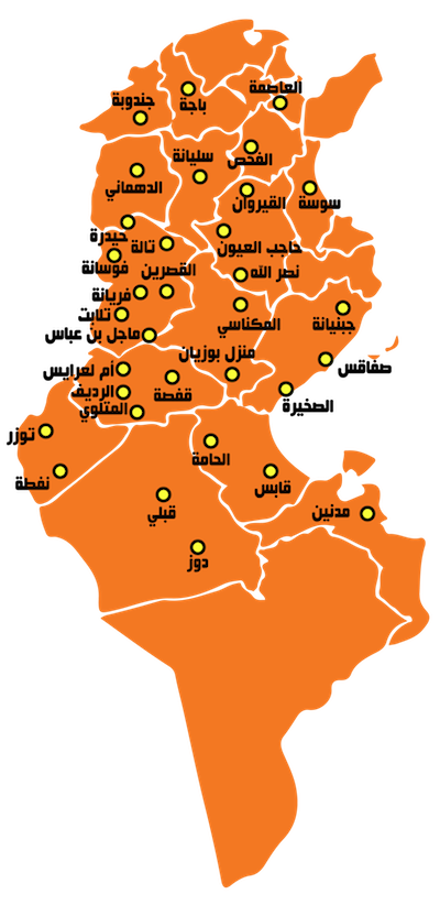 #kasserine protests spread to 16 governorates the #map https://t.co/ufSbVWJjBC