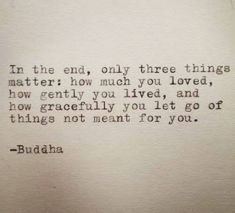 """In the end, only three things matter ..."" -Buddha https://t.co/44spcRO2xD"