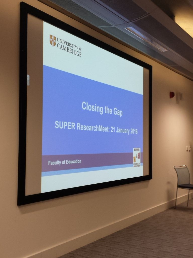 Kicking off our ResearchMeet! Looking forward to hearing ideas on closing the gap #researchSUPER https://t.co/jkn99uiSGB