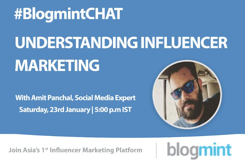 Looking forward to it ! @AmitHPanchal #BlogmintCHAT https://t.co/KjJIELUVhq
