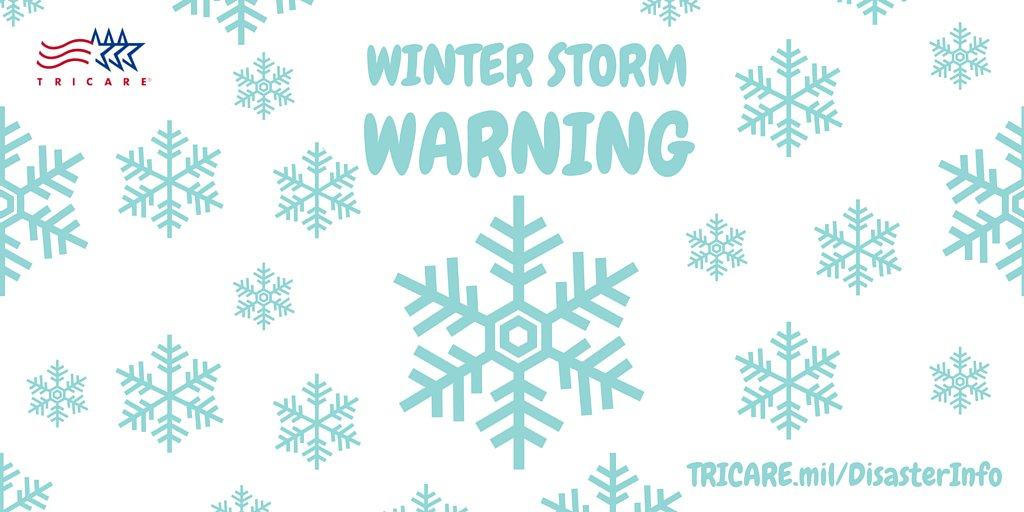 #WinterisComing. Are you signed up for #TRICARE info/alerts: https://t.co/AEDXgyV3XP? #WinterStormJonas https://t.co/0aYMvdPtUH