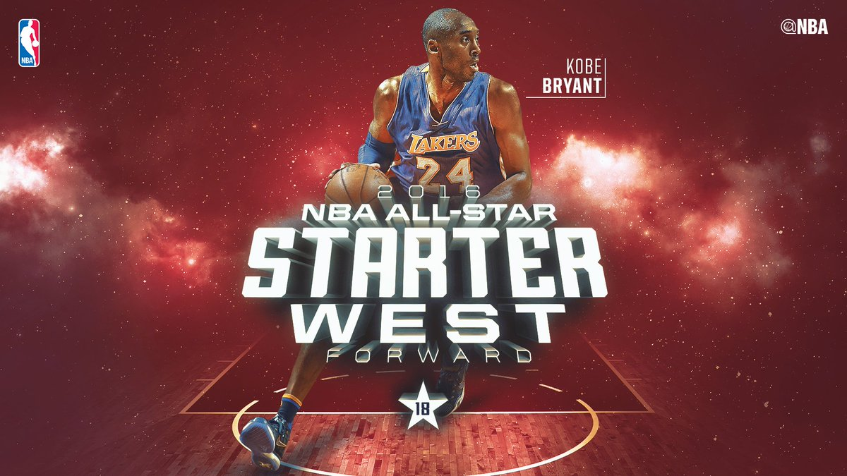 Western Conference All-Star Starter @KobeBryant of the @Lakers! #NBAAllStarTO https://t.co/wYFyvZiIr5