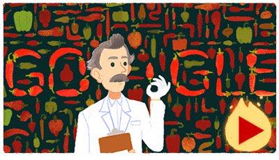 La scala di Wilbur Scoville Doodle Google