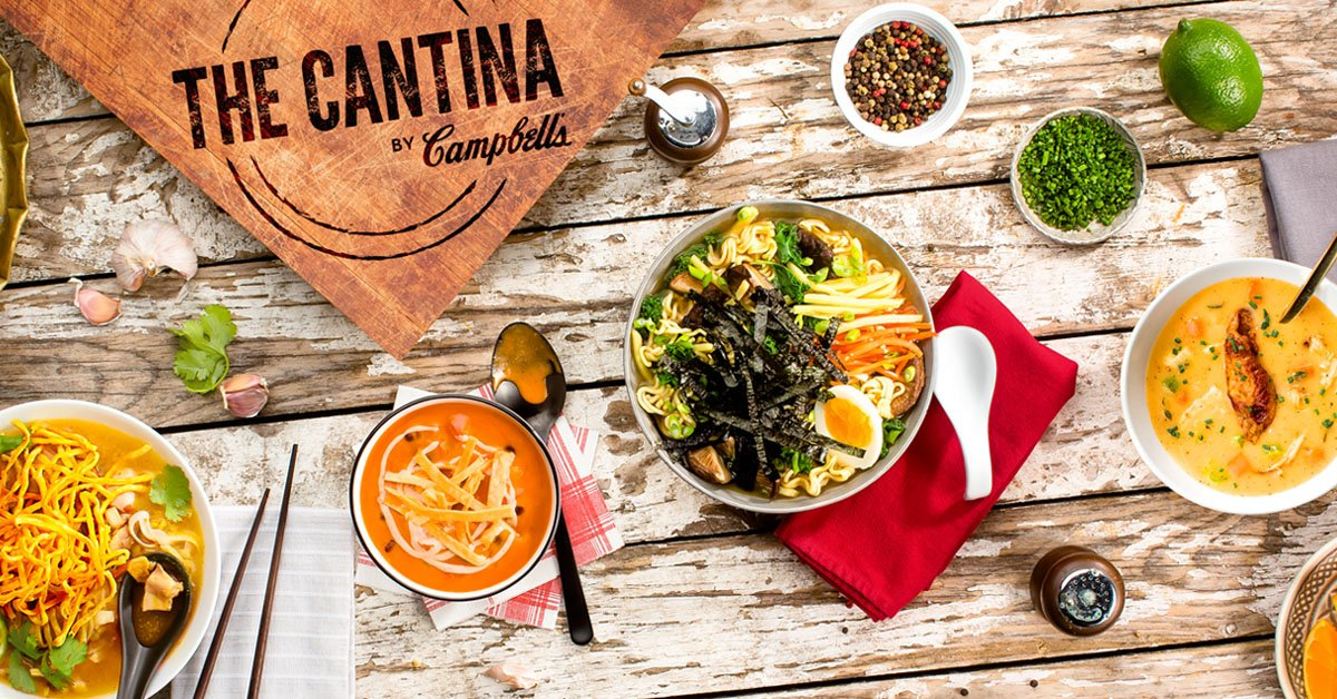 Announcing The Cantina By Campbell's - a Toronto pop-up launching Feb 2nd! #WeAllSoupTO https://t.co/8bOcHsEL2e https://t.co/bHMbPlga20