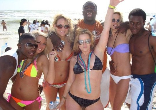 interracial spring break