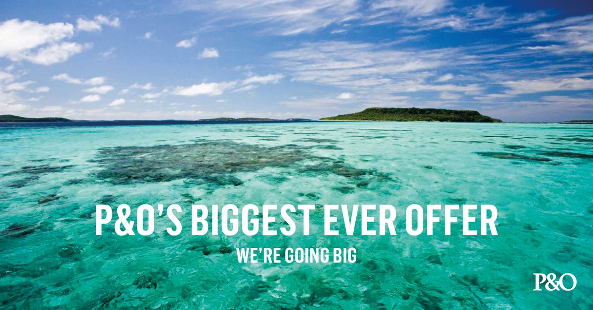 Want to save BIG on your next cruise booking? With P&O's Biggest Ever Offer you can! https://t.co/MbFePM4Eab https://t.co/IsTp3Og6JE