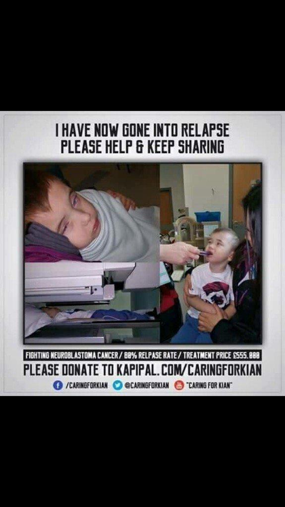 RT @SHOEJAZZLE: Please Donate & Retweet to help save this boys life @lemontwittor @MarnieGShore @JohnBishop100 @JamieKavanagh90 https://t.c…
