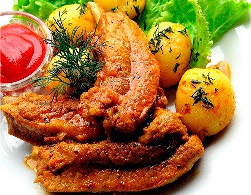 рецепты со свиными ребрышками