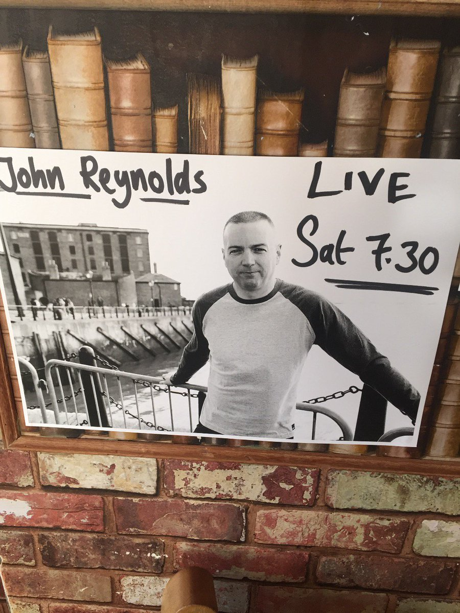 The fantastic and talented John REynolds Saturday night! Come along #livemusic #northenden