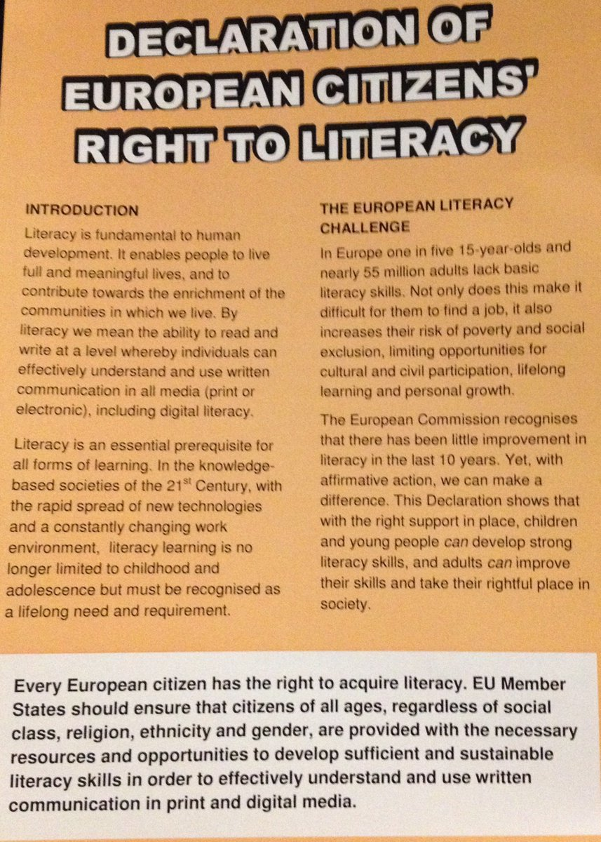 Do Children Have Right To Literacy >> Unesco Uil On Twitter The Declaration Of European Citizens Right