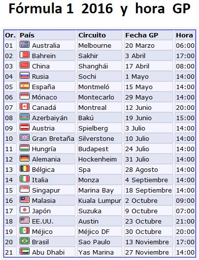 Calendario Formula1.Yukio Seki F1 On Twitter Calendario F1 2016 Y Horarios