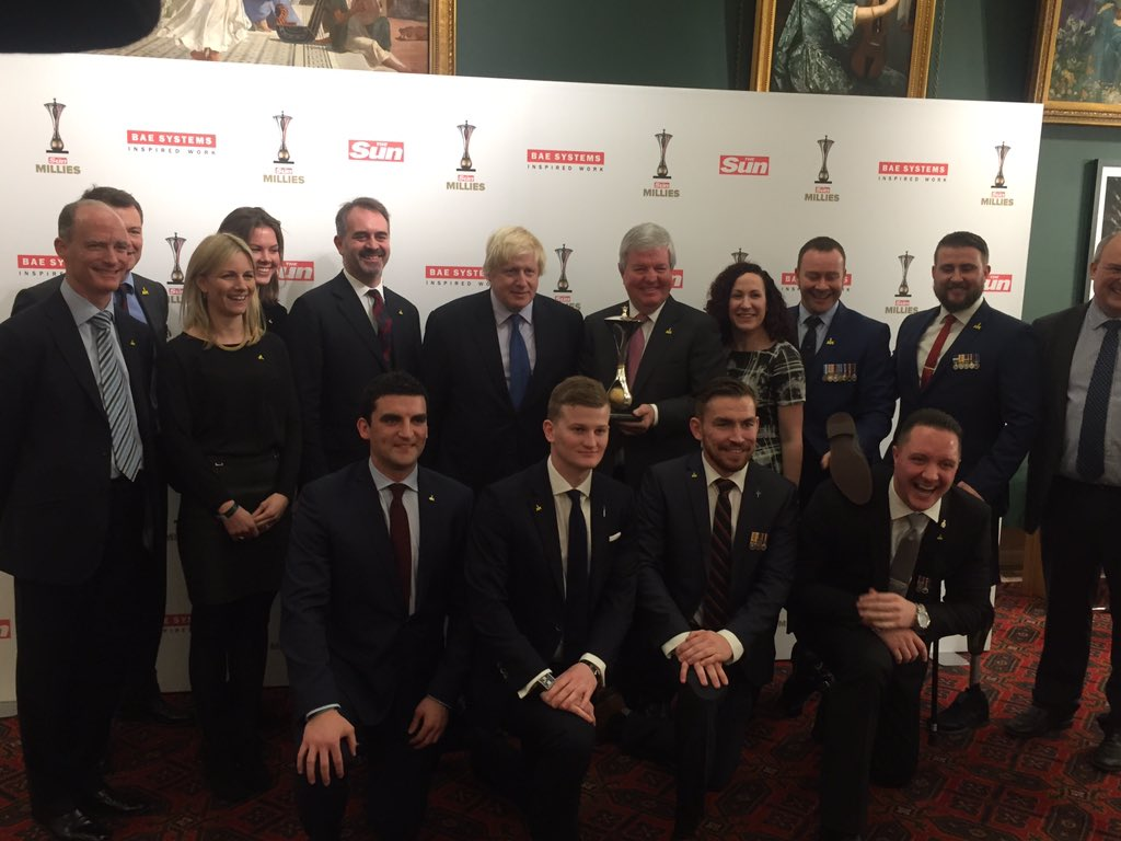 Honoured to present Judges' Award to remarkable @WeAreInvictus at @TheSun #Millies https://t.co/3BalyeZ46o