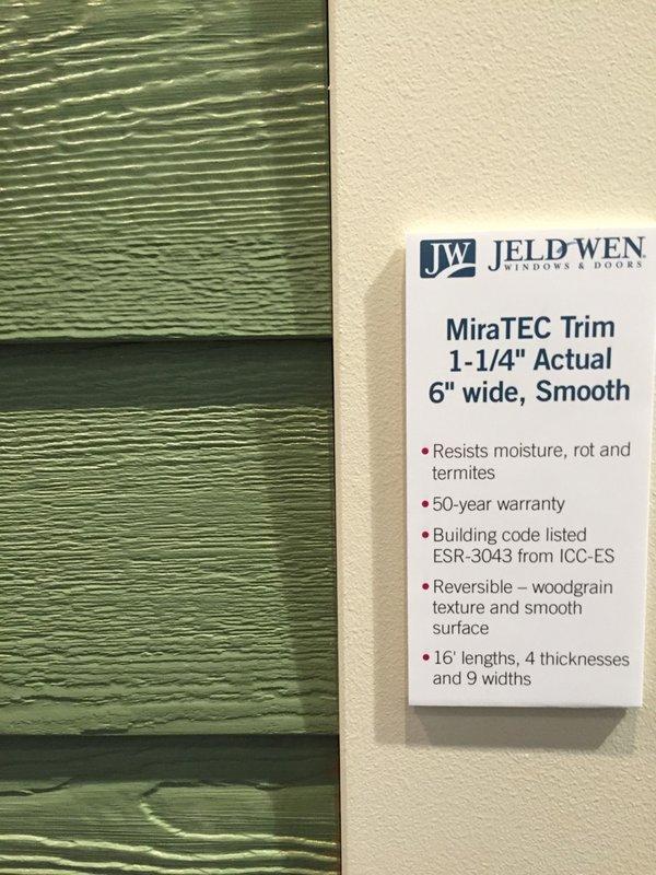 RT@craiglwebb @JELDWEN plans this year to start making siding from the same Mira-Tec it uses to produce trim#DCW2016 https://t.co/S6i7o3aM5h