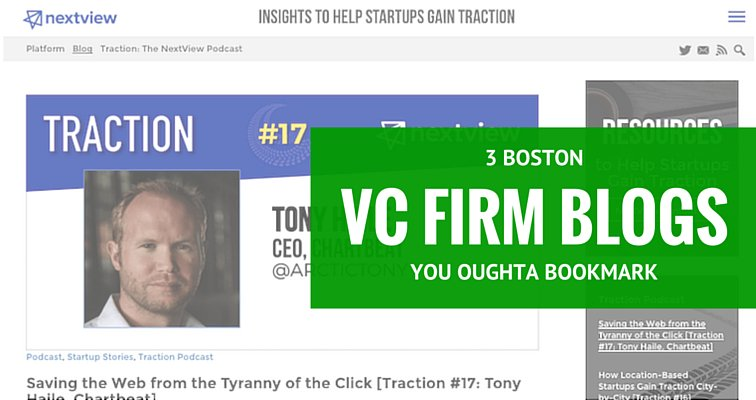 Here's 3 Boston VC blogs you oughta bookmark. https://t.co/18eG1l5zFI @OpenViewVenture @NextviewVC @fcollective https://t.co/q6p4dozvEu