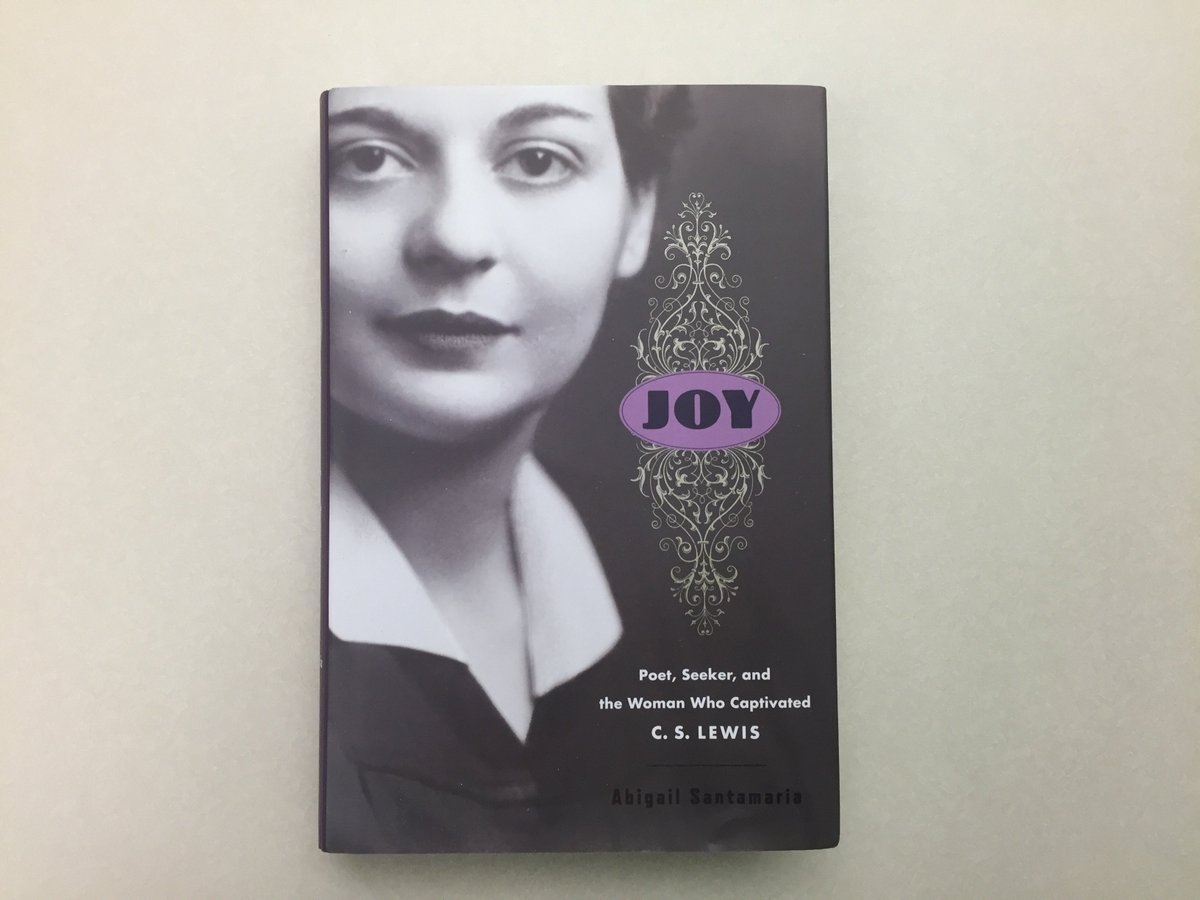 "Reading ""Joy"" – the amazing biography of C.S. Lewis's wife. Well done  @abbystweets. 400 pages of inspiring insights.pic.twitter.com/Npfqa0QBol"