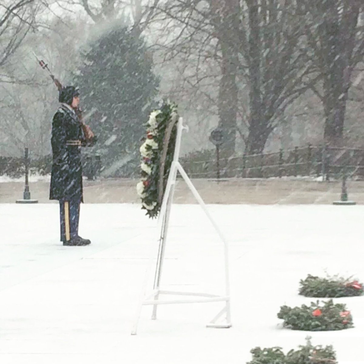 Soldiers Guard Tomb of Unknowns During Historic Snowstorm - https://t.co/qs3uCBSO7P #blizzard2016 https://t.co/BK5kvWSEPT