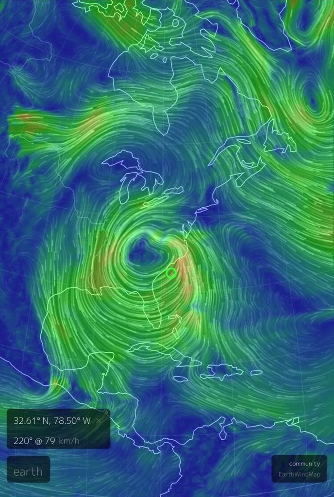 The wind profile of #blizzard2016 almost looks like a hurricane.  @weathernetwork https://t.co/4JKADRQ0iJ