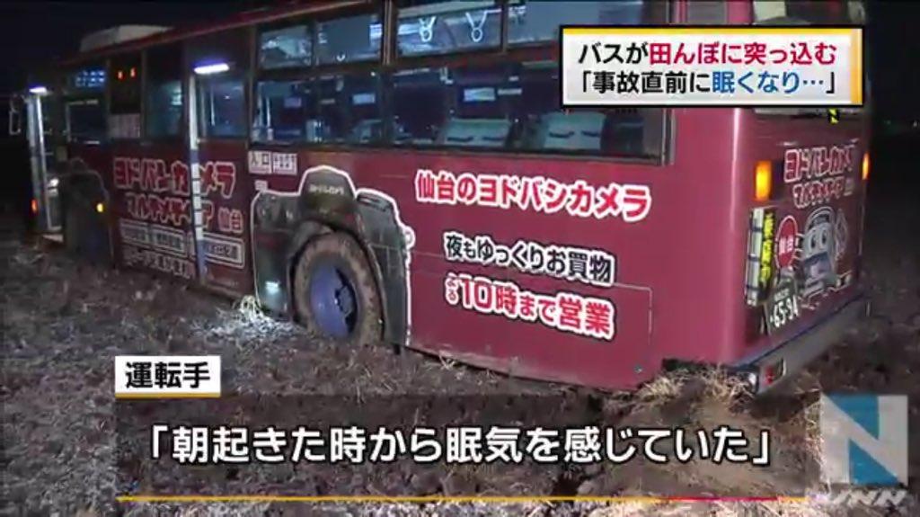 ヨドバシラッピングのバスが田んぼに落ちてるのジワる https://t.co/lL8ceWtgOe