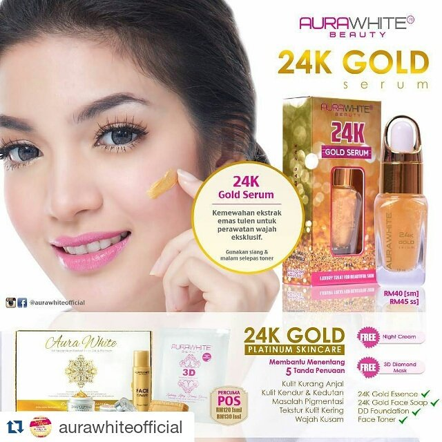 Image result for AURAWHITE 24k GOLD SERUM