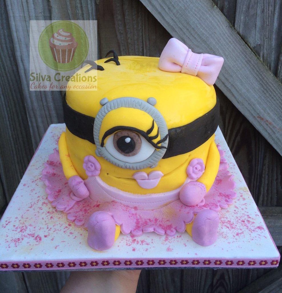Silva Creations On Twitter Girl Minion Birthday Cake Birthdaycake