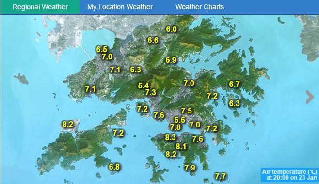 香港全土が10度切っているなんてそう滅多に見れないですよ奥さん。これは死人出る(屋外生活者の方々などに) https://t.co/cJnIDhpEjw